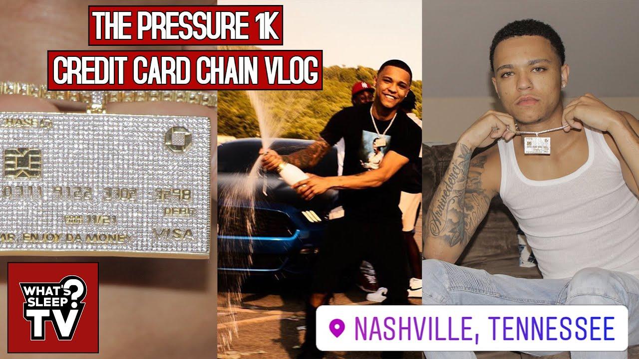 Pressure 1k Details His Custom Credit Card Chain