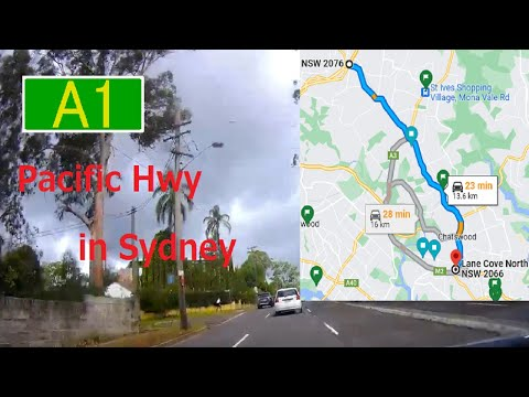 【Sydney】A1 Pacific Hwy Wahoonga -  Lane Cove