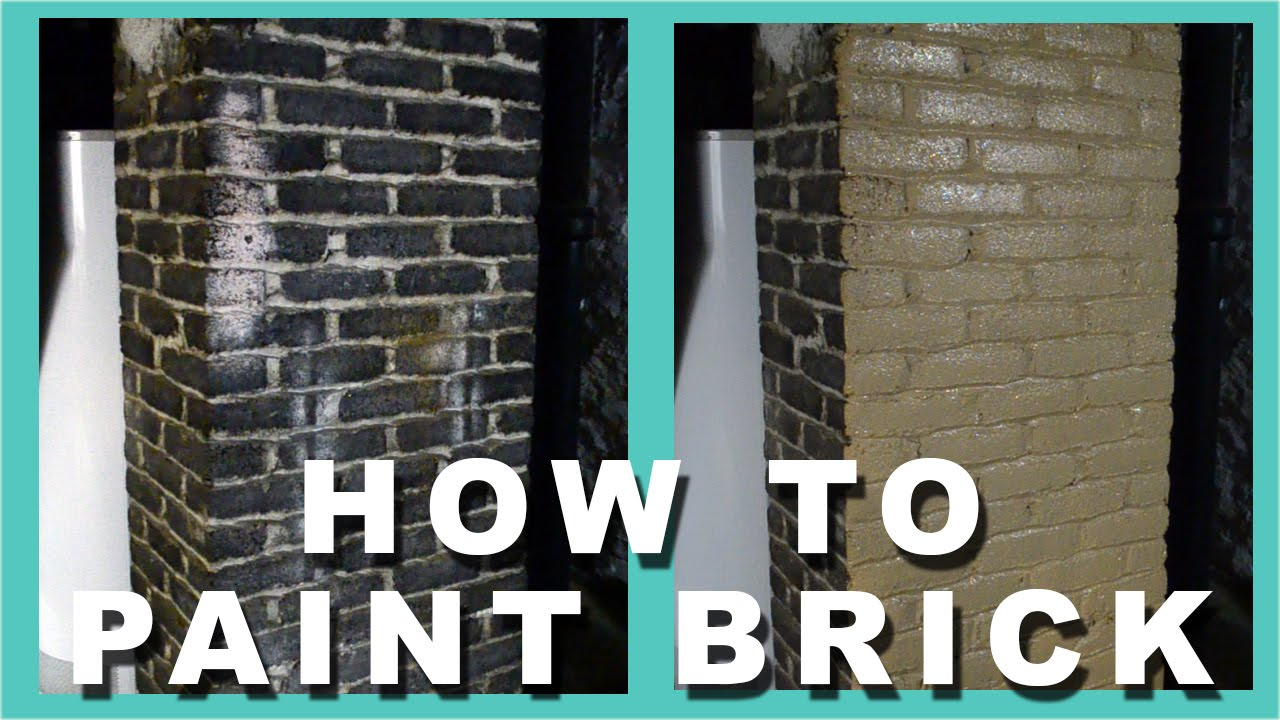 How to paint brick how to paint a brick chimney youtube for How to paint my house interior
