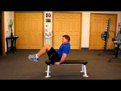 On Bench Knee Curl-Up for Six Pack Abs & Toned Stomach
