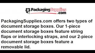 File Storage Boxes - Store All Important Documents
