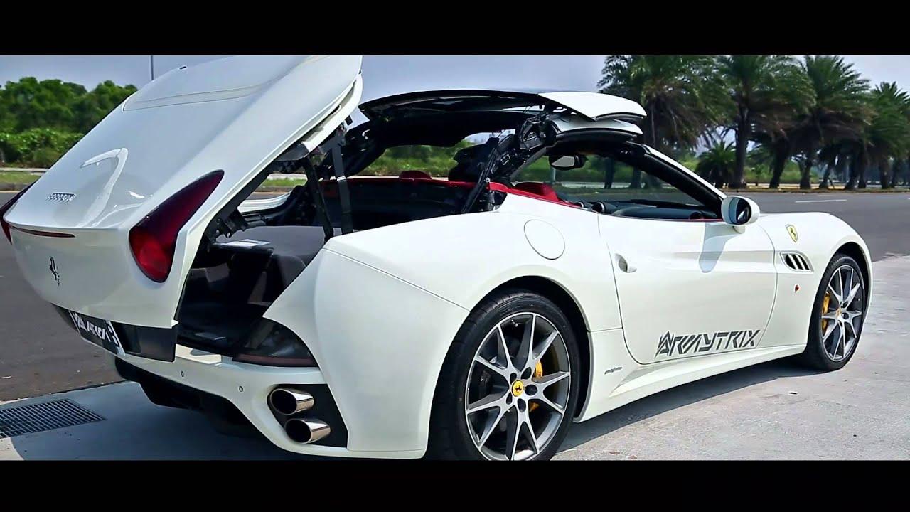 Armytrix Titanium Sportauspuff F1 Sound Fur Ferrari California 4