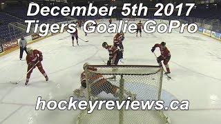 December 5th 2017 Tigers Hockey Goalie GoPro