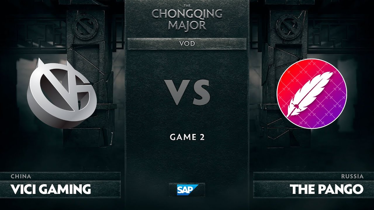 [EN] Vici Gaming vs The Pango, Game 2, The Chongqing Major Group C