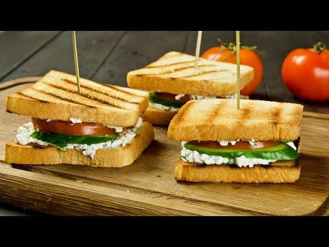 Мы нашли ИДЕАЛЬНОЕ дополнение к гренкам на ЗАВТРАК! Хрустящие бутерброды с творогом