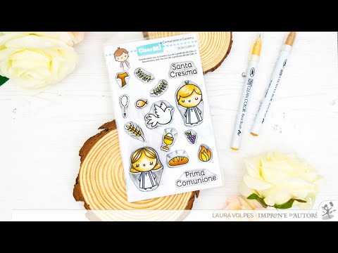 Clear Stamps Cresima E Comunione Impronte D'Autore | Demo Zig Clean Color Real Brush Markers
