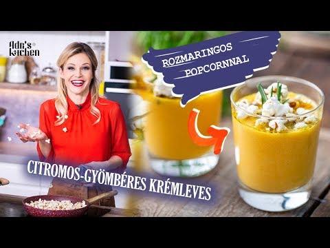 Gyömbéres Krémleves Frissen Kipattogott POPCORN-nal
