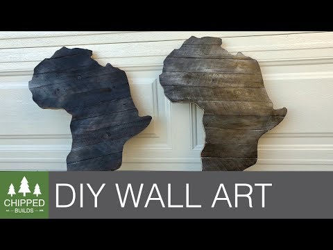 DIY Africa Wall Art || How To