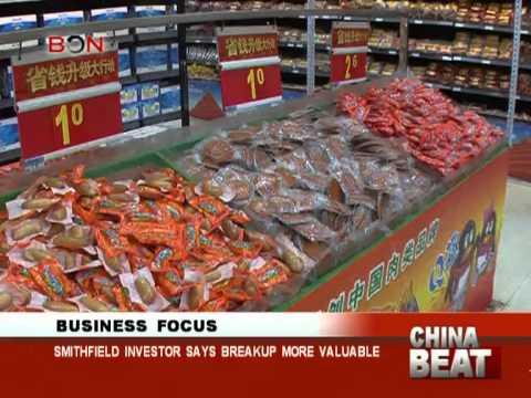 Smithfield investor says breakup more valuable - China Beat - June 18,2013 - BONTV China