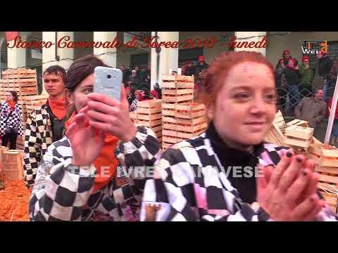 Storico Carnevale di Ivrea 2018   lunedì,  Mugnaia, Generale e Aranceri