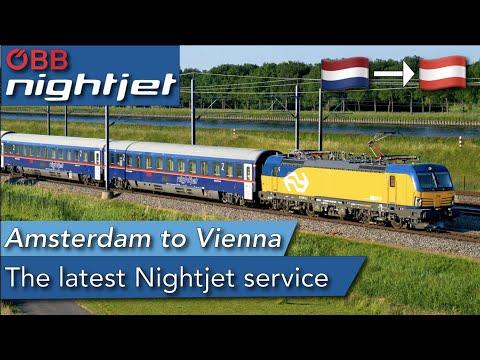 The NEWEST Nightjet service! Amsterdam to Vienna by sleeper train