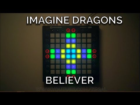 Imagine Dragons - Believer (Kaskade remix) // Launchpad Pro Cover