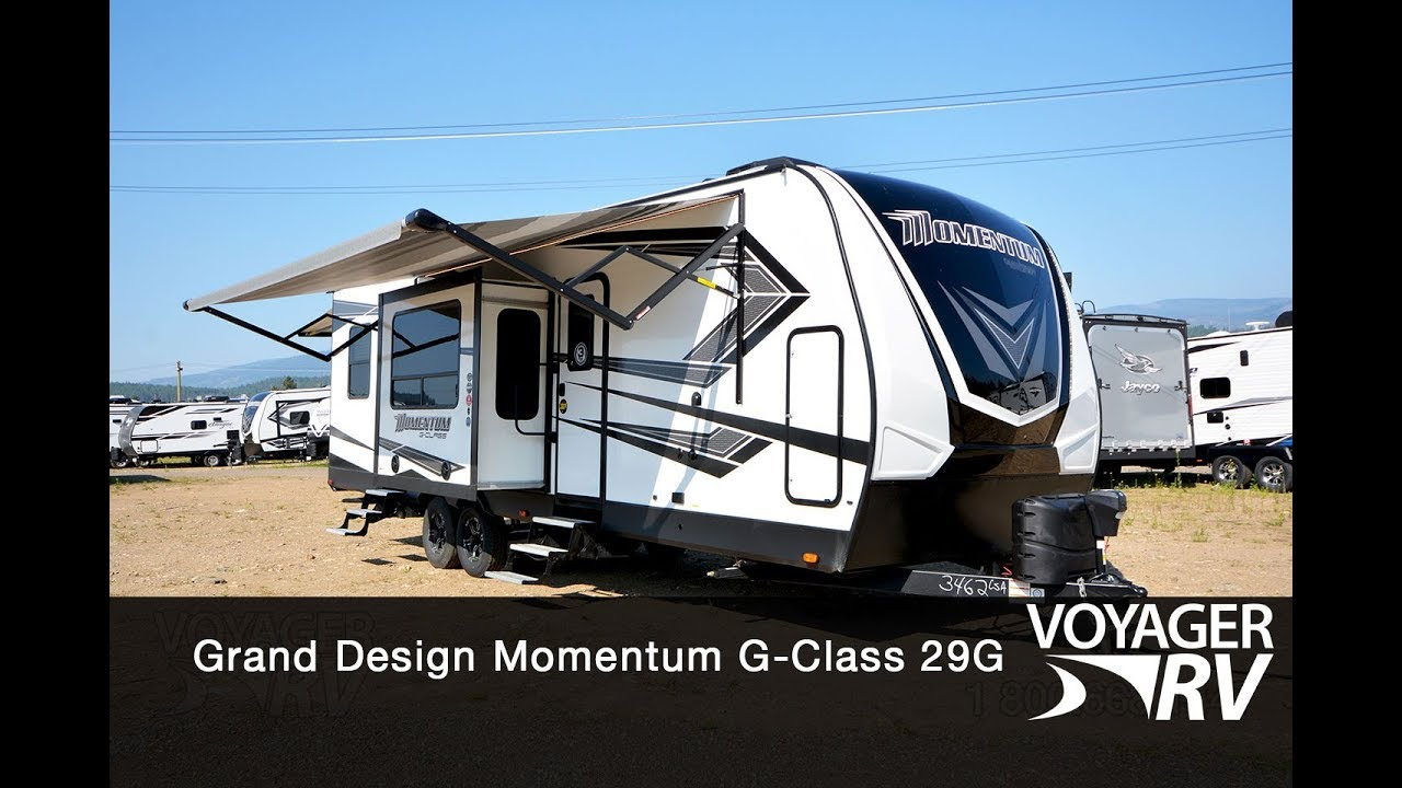 for sale new 2020 grand design momentum g class 29g toy haulers travel trailers voyager rv centre [ 1280 x 720 Pixel ]