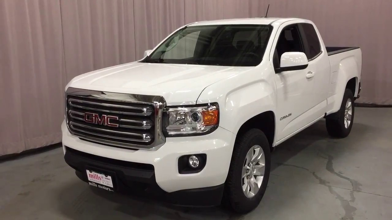 2016 Gmc Canyon Extended Cab White Oshawa On Stock 161830
