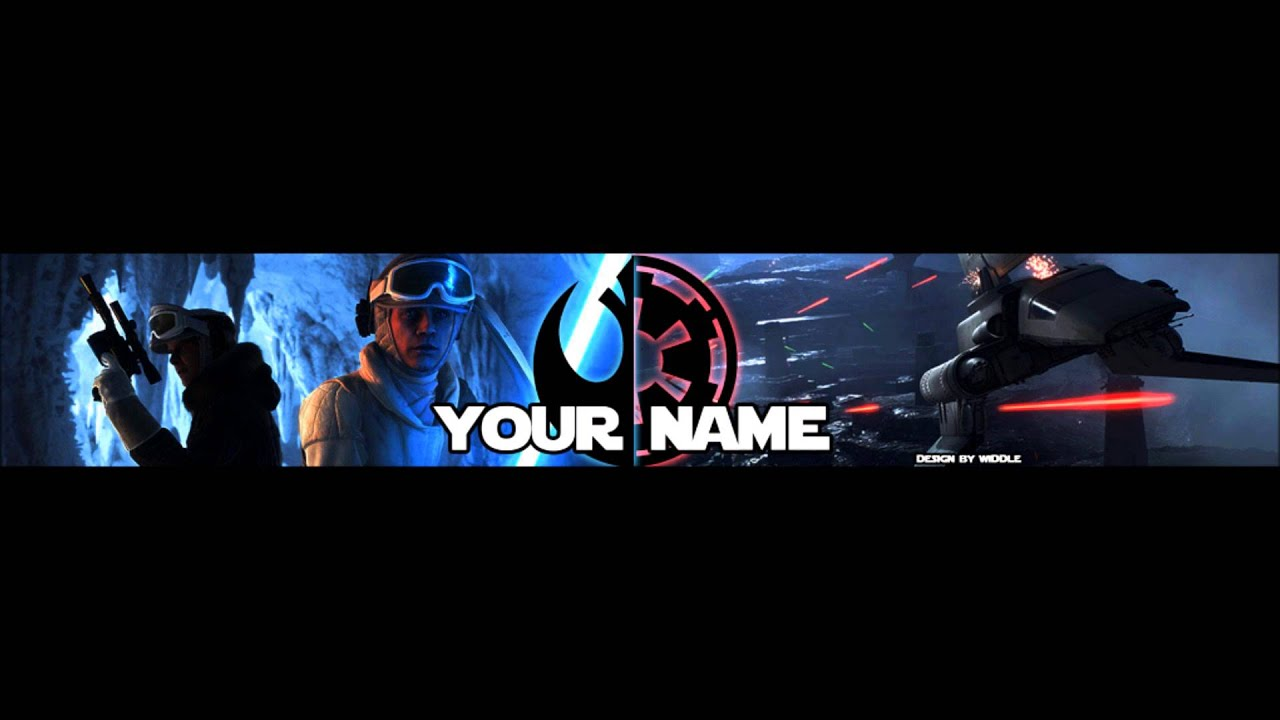 template banner star wars by widdle free download youtube. Black Bedroom Furniture Sets. Home Design Ideas