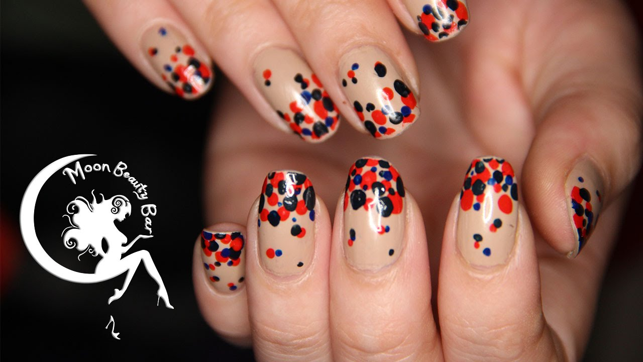 Nude Dotted Nail Art Design Dots Dots Dots Youtube