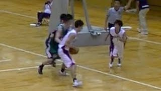 H25関西学生バスケットボールリーグ天理大学vs同志社大学4P
