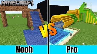 Minecraft: NOOB WASSERRUTSCHE VS. PRO WASSERRUTSCHE! Nina + Kaan bauen gemeinsam im Build Battle