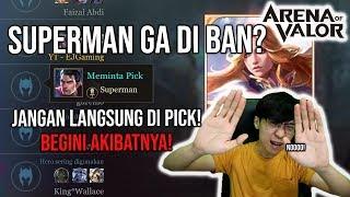 Download Video Ranked Make GAJAH! Superman Ga di BAN! JANGAN LANGSUNG DI PICK! ini AKIBATNYA! - Arena of Valor MP3 3GP MP4