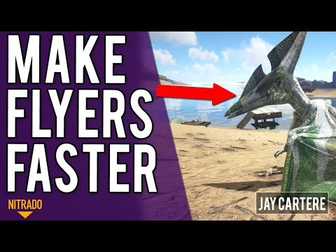 How To Make Flyers Faster On Your Nitrado Server / Increase Flyer Speed - ARK PS4 Server Tutorial