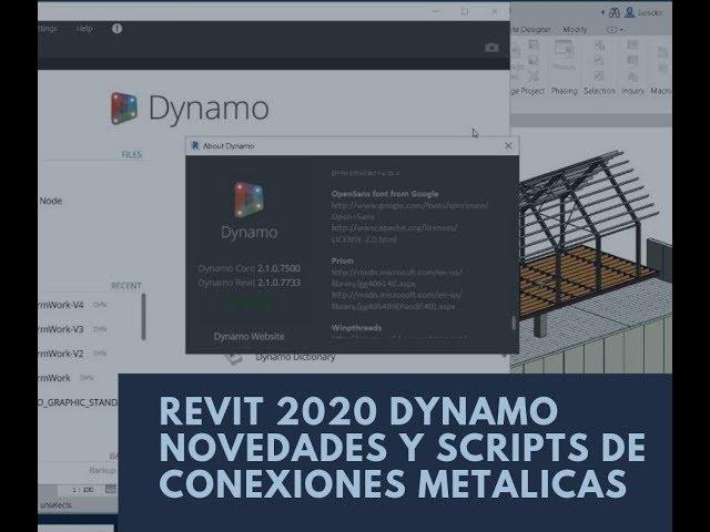 Revit 2020 Dynamo novedades y Scripts de Conexiones Metalicas