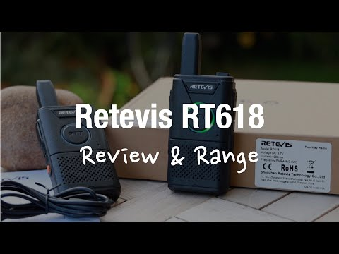 Retevis RT618 Licence Free Walkie Talkies (Review And Range Test)