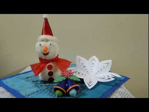DIY 3 Easy Christmas Craft Ideas   Snowman, Snowflake,And Christmas Bell Making