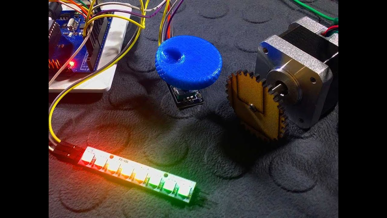 Control a stepper motor with an arduino a rotary encode for Arduino encoder motor control