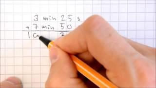 Laskuja pienillä ajanyksiköillä - yhteenlasku