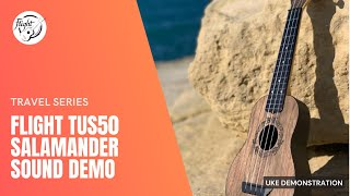 Flight TUS50 Salamander Travel ukulele demonstration