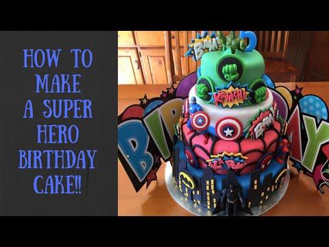 How to make a superhero birthday cake