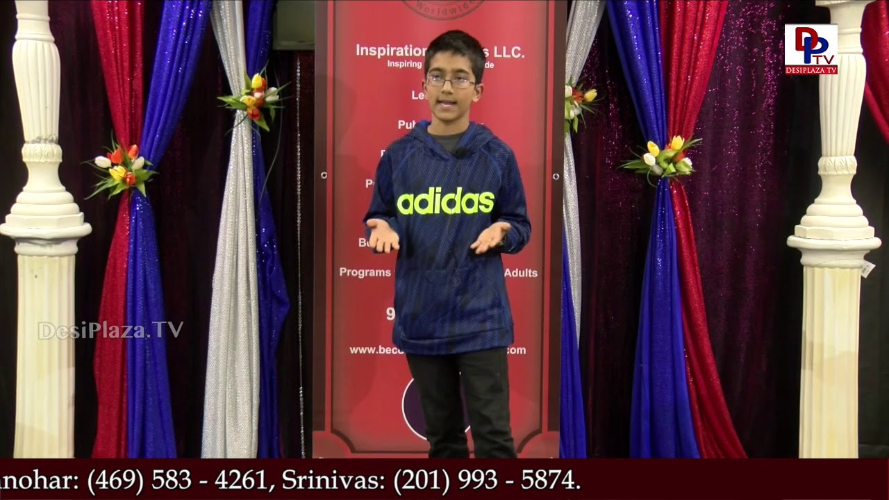Abhirav tells a story at Talking Bee - Public Speaking Competitions 2018 || DesiplazaTV