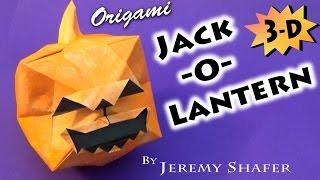 Origami Jack-O-Lantern 3-D!