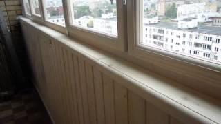 Остекление балкона деревянными рамами.(Остекление балкона деревянными рамами. Эконом класс. Бюджетный вариант., 2014-09-01T19:46:50.000Z)