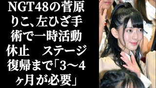 NGT48の菅原りこ、左ひざ手術で一時活動休止 ステージ復帰まで「3~4ヶ...