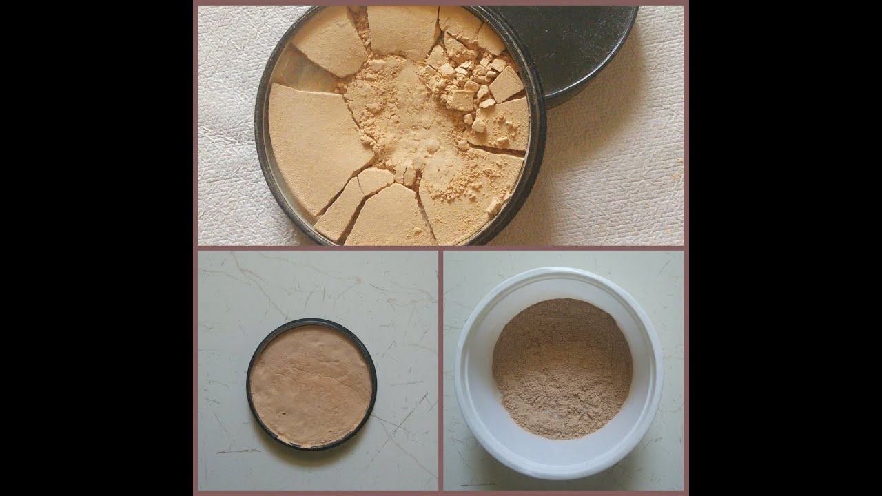 How to fix broken powder makeup with alcohol in four simple steps - Diy How To Fix Broken Compact Powder Makeup With Without Using Rubbing Alcohol Youtube