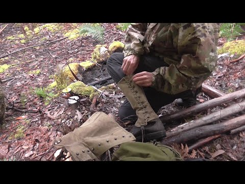 Rainy Overnighter + Channel Update + M-1938 Army Canvas Leggings (Gaiters).