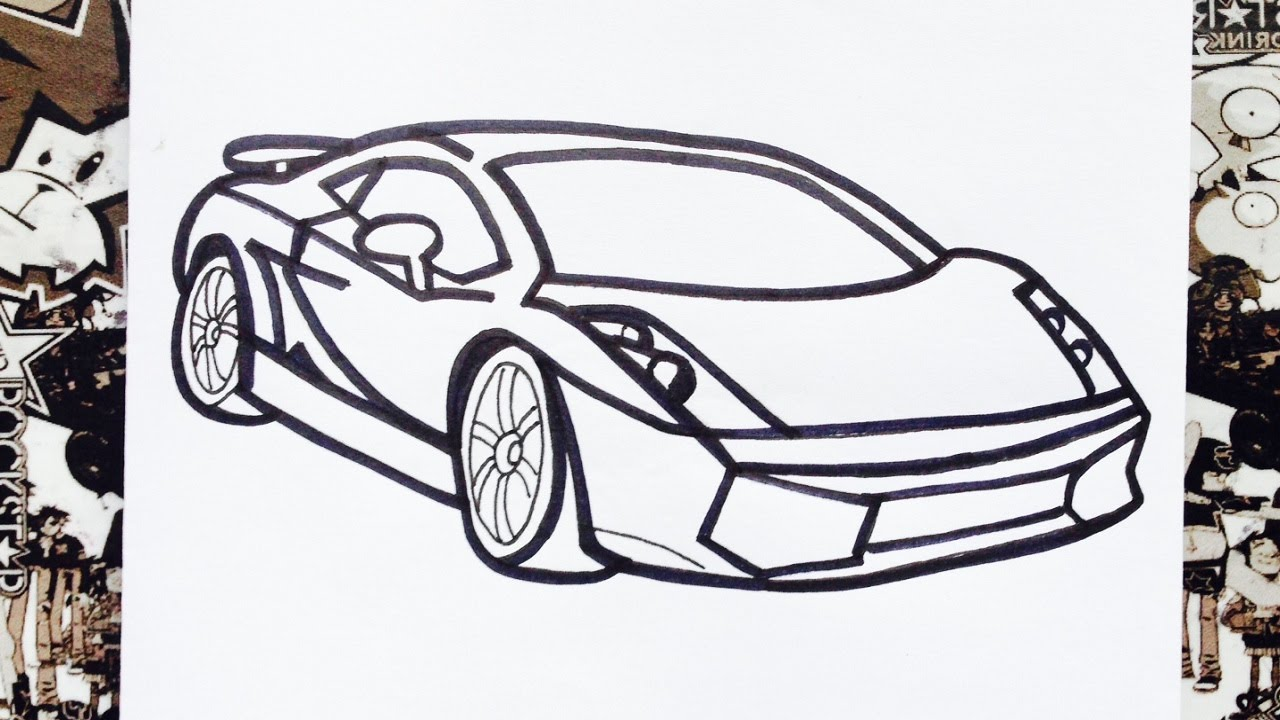 Como Dibujar Un Carro How To Draw Cars Como Desenhar Carros