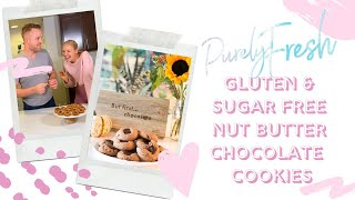 Gluten &amp Sugar Free Peanut Butter Chocolate Chunk Cookies