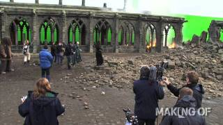 On set for the final chapter of \'Harry Potter and the Deathly Hallows: Part 2\'