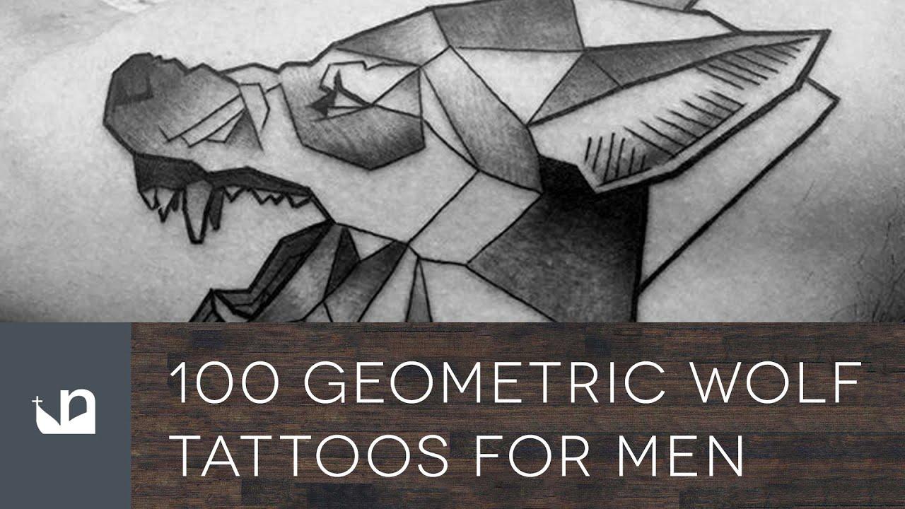 100 Geometric Wolf Tattoos For Men - YouTube
