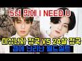 가요대축제가 일으킨 I NEED U 미성년자 정국 VS 24살 정국 갭에 난리난 월드실트 BTS JUNGKOOK JK WORLD TRENDING
