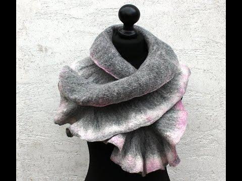 Filzanleitung für einen Schal aus Merinowolle – felting