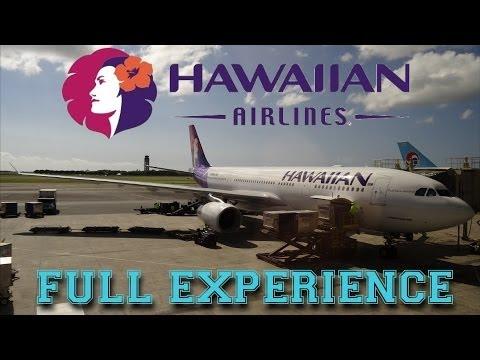 Hawaiian Airlines Full Experience - Los Angeles-Honolulu