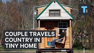 Couple travels the country in tiny home they built for under $20,000