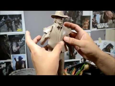 John Marston   Polymer clay figure -speed modeling-