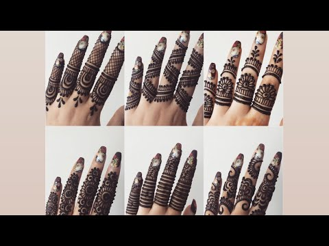 How To Apply Latest Beautiful Fingers Mehndi Henna Designs Tutorial For Eid Weddings