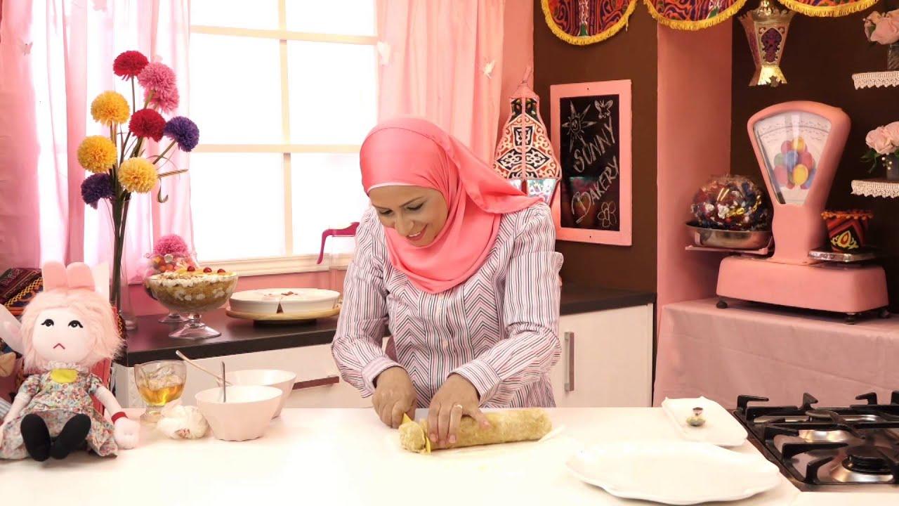 برنامج الحلويات - سويسرول الكنافة + بواقى الكنافة والبسبوسة - الجزء الثاني