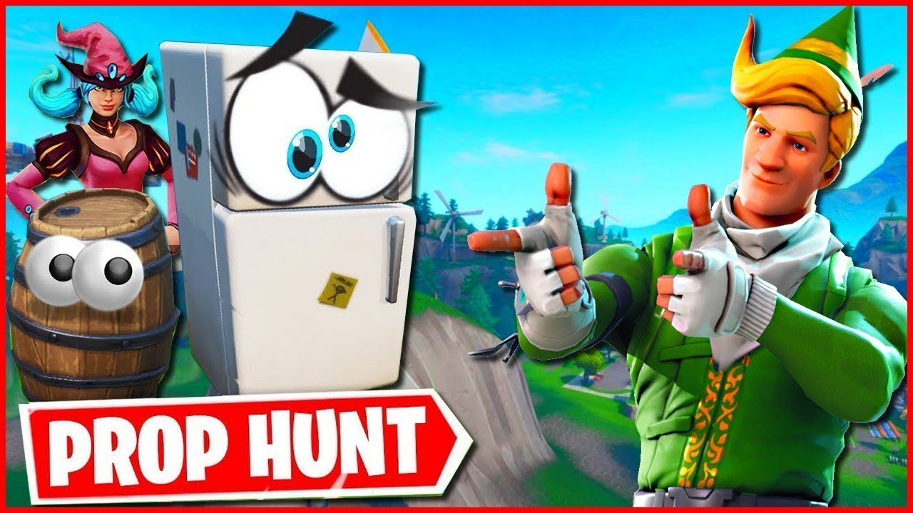 Cache cache PROP HUNT sur FORTNITE ! Feat. The fox GK ...