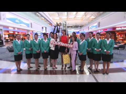 Ana Ivanovic visits Dubai Duty Free in Dubai International Airport Concourse D